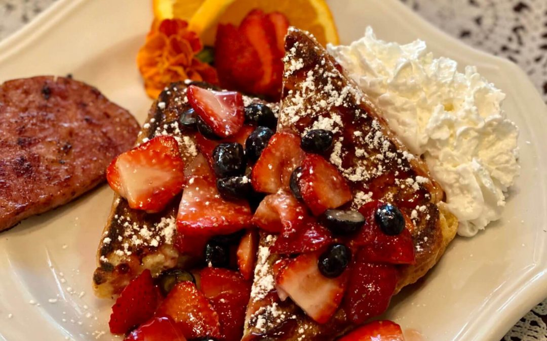 Good Morning! Recipe Blog: Holden House Stuffed French Toast with Berry Sauce