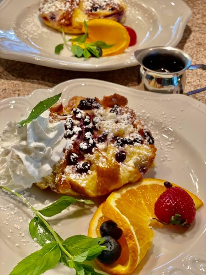 Lemony Blueberry Baked French Toast