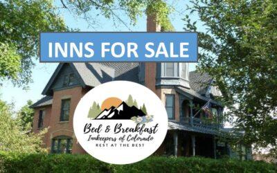 Aspiring Innkeeper and Inns For Sale webpage included in new Bed & Breakfast Innkeepers of Colorado website